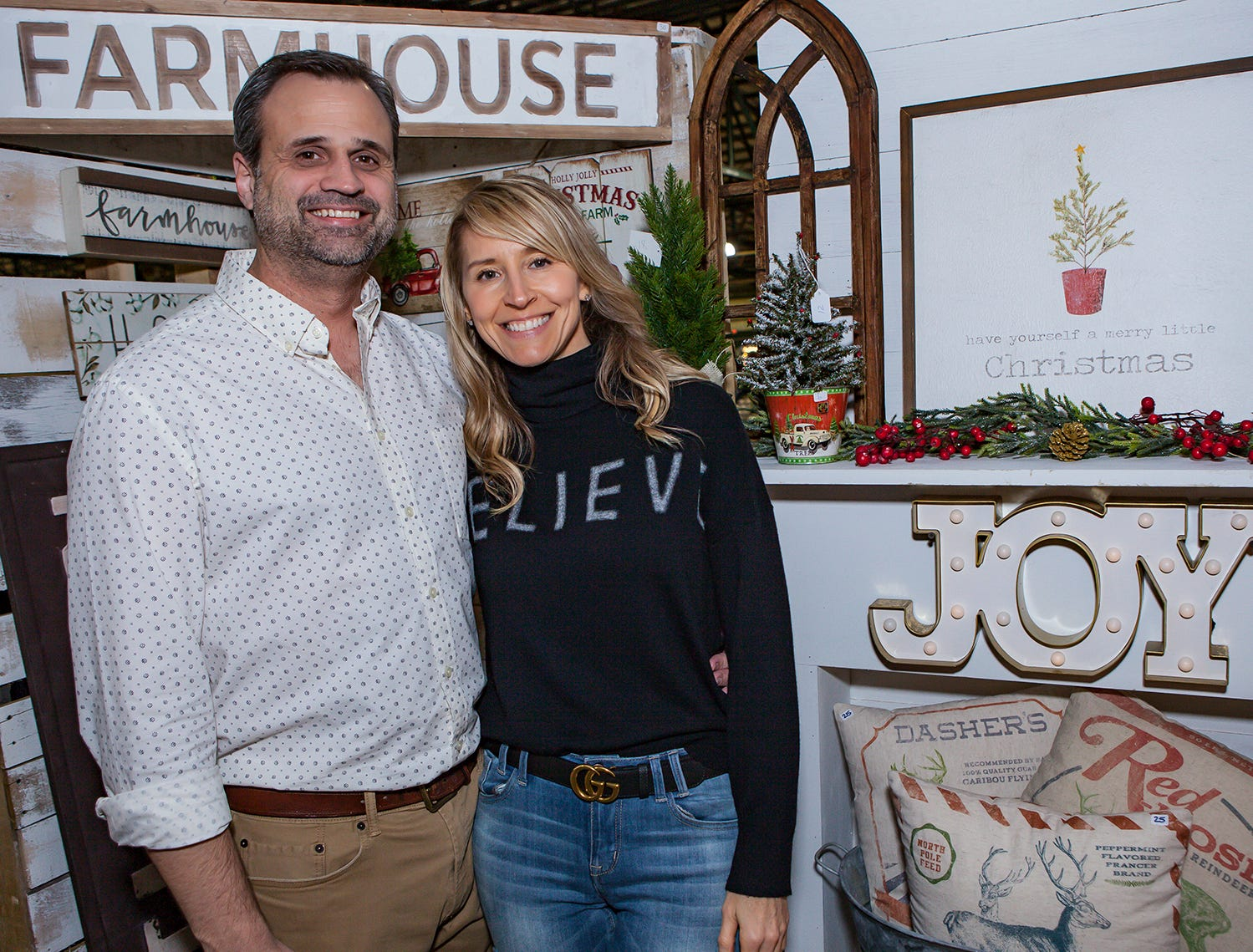 Dusin and Tonya Najar at Mistletoe & Martinis on Friday, Nov. 30, the preview party for the Junior League of Murfreesboro's 2018 Hollyday Marketplace.
