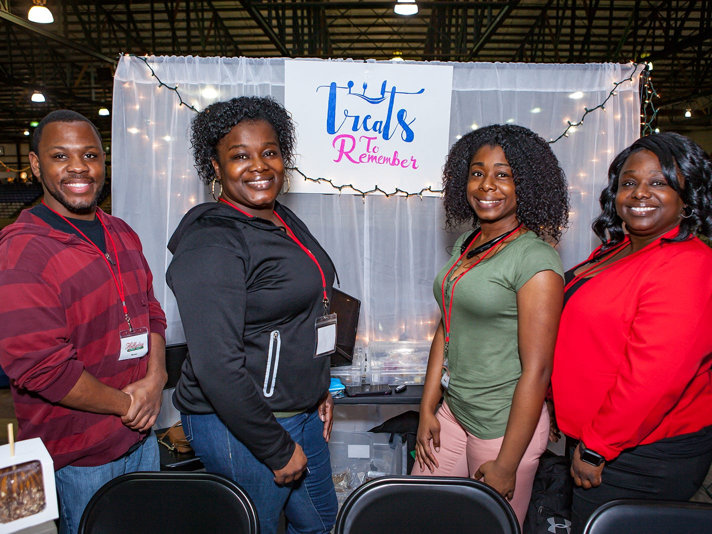 Marcus McNeil, Renata Johnson, Saundra Hammonds and Ty Hammonds at Mistletoe & Martinis, the preview party for Junior League of Murfreesboro's 2018 Hollyday Marketplace.