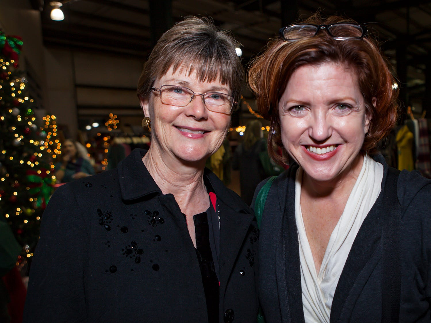 Camille Beckwith and  Jane Herring shop at MIstletoe & Martinis on Friday, Nov. 30, the preview party for the 2018 Hollyday Marketplace hosted by the Junior League of Murfreesboro.