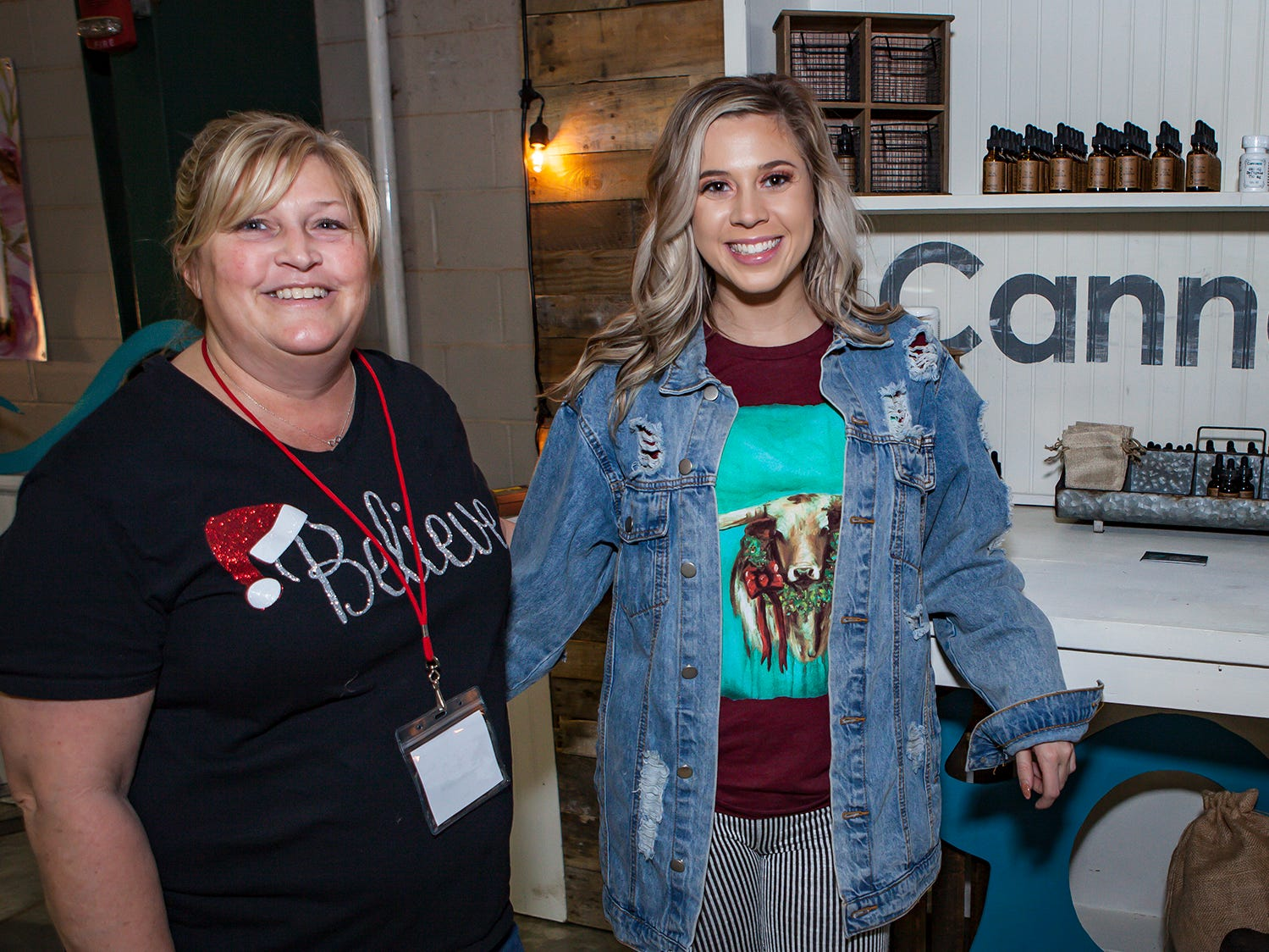 Carol Prince and Ashley Sutton at MIstletoe & Martinis on Friday, Nov. 30, the preview party for the 2018 Hollyday Marketplace hosted by the Junior League of Murfreesboro.