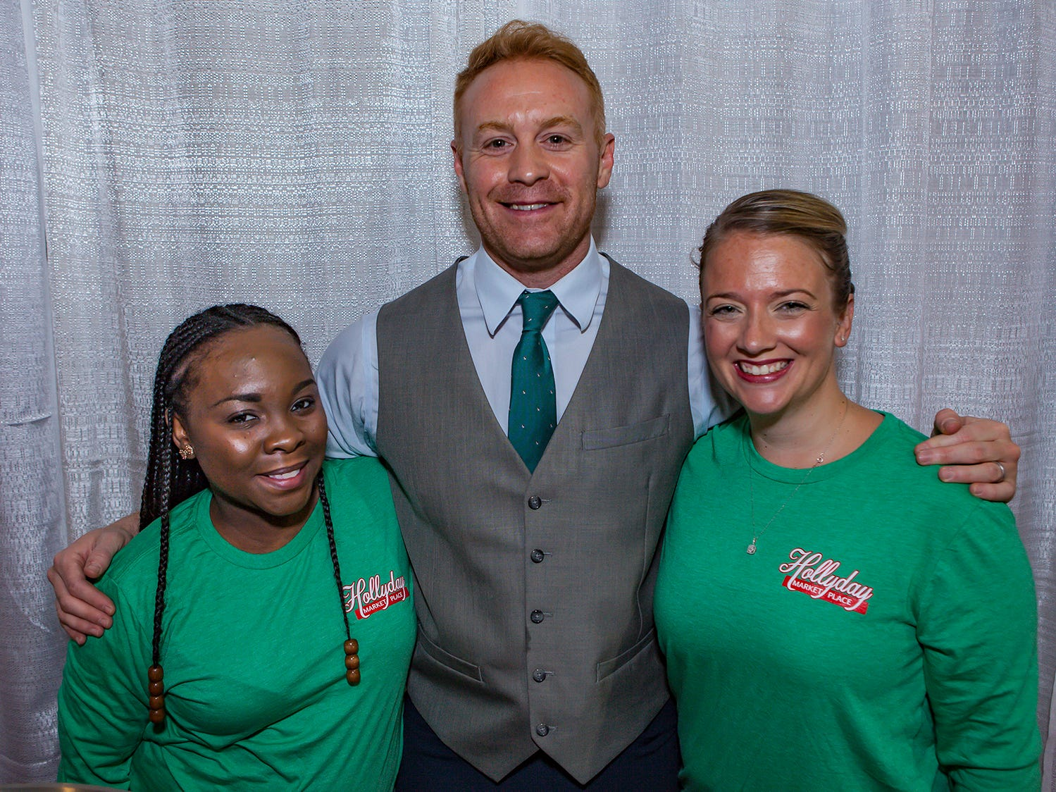 April Marable, Adam Valentine and Shaina Richardson at MIstletoe & Martinis on Friday, Nov. 30, the preview party for the 2018 Hollyday Marketplace hosted by the Junior League of Murfreesboro.