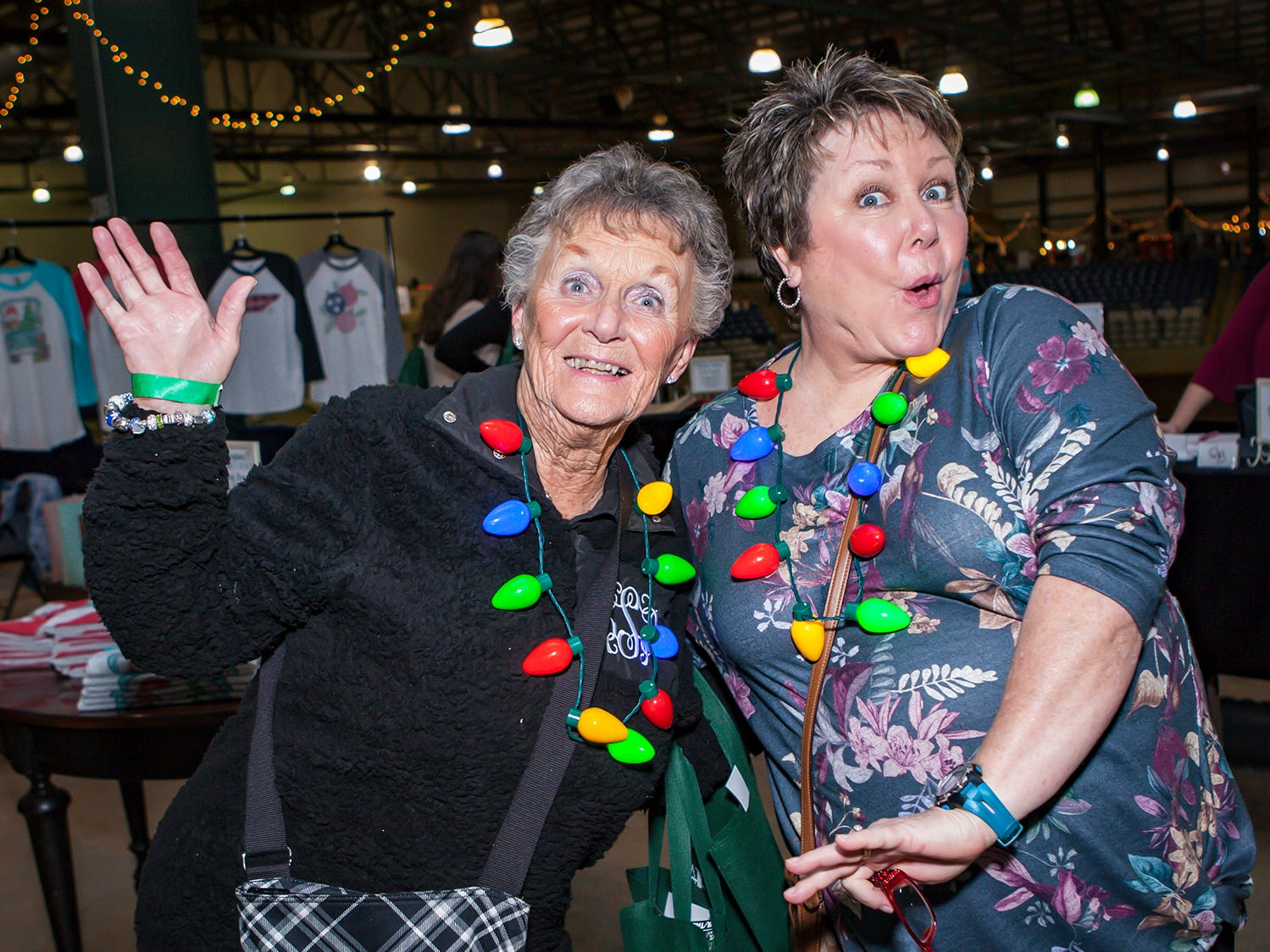 Lucy Swafford and Darlene Dalton at Mistletoe & Martinis, the preview party for Junior League of Murfreesboro's 2018 Hollyday Marketplace.