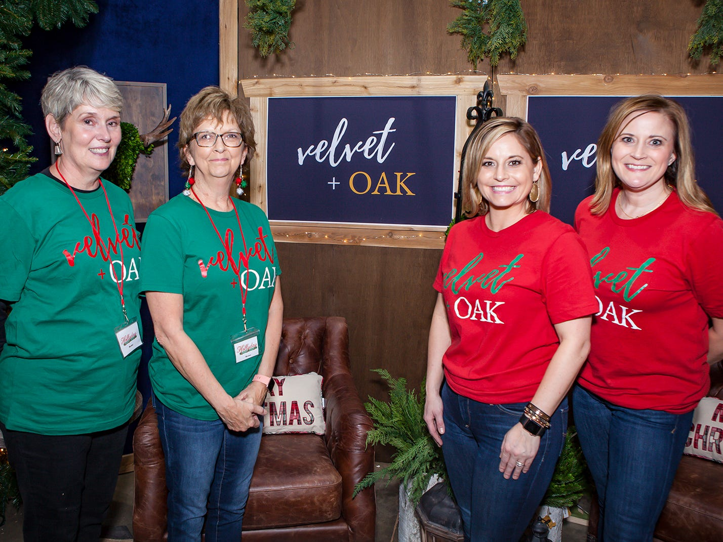 Mary Lowe, Terri Holmes, Danielle Holmes and Collen Fogle at Mistletoe & Martinis, the preview party for Junior League of Murfreesboro's 2018 Hollyday Marketplace.
