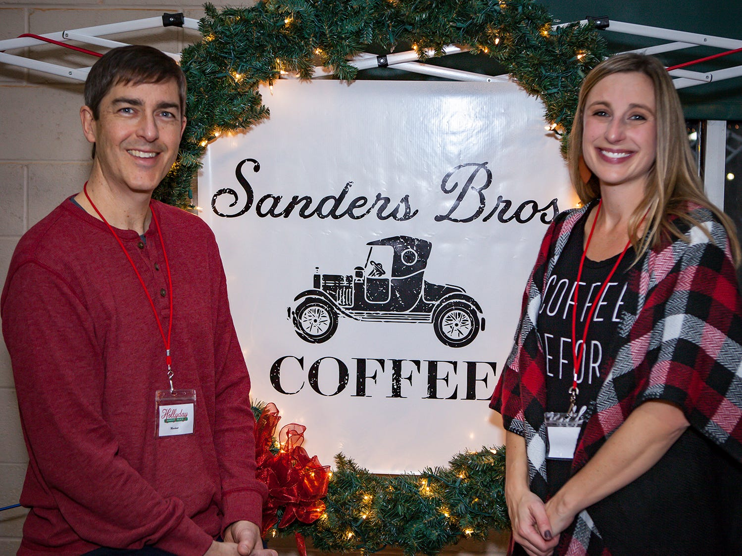 Cary and Ashley Sanders at Mistletoe & Martinis on Friday, Nov. 30, the preview party for the 2018 Hollyday Marketplace hosted by the Junior League of Murfreesboro.