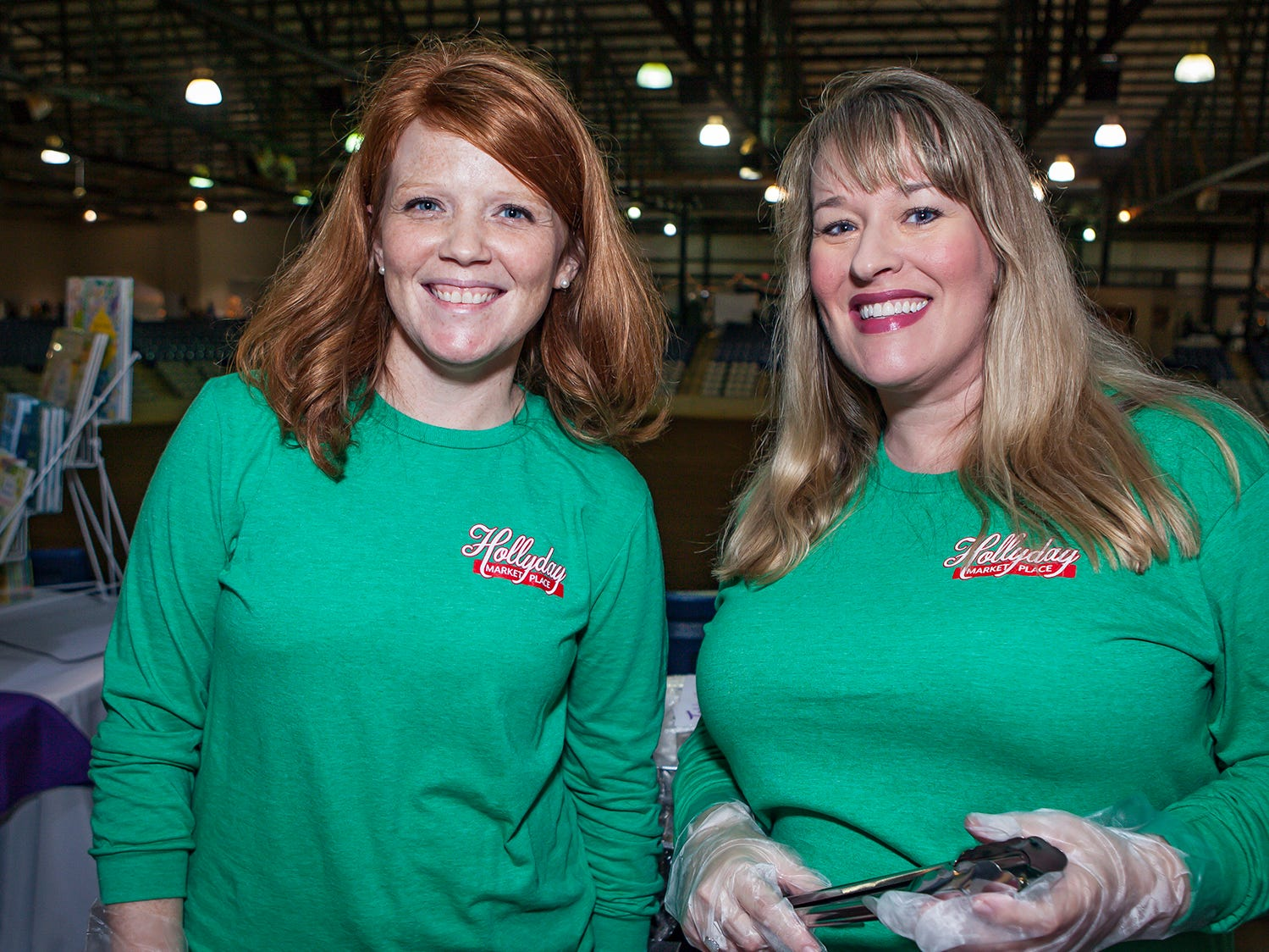 Heather Szaroleta and Misty Harlan at Mistletoe & Martinis on Friday, Nov. 30, the preview party for the Junior League of Murfreesboro's 2018 Hollyday Marketplace.