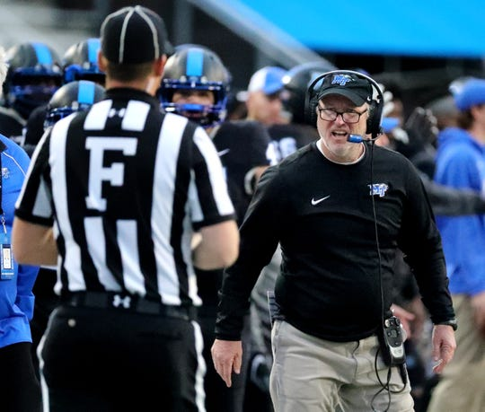 MTSU offensive coordinator Tony Franklin will earn $310,000 in 2018.