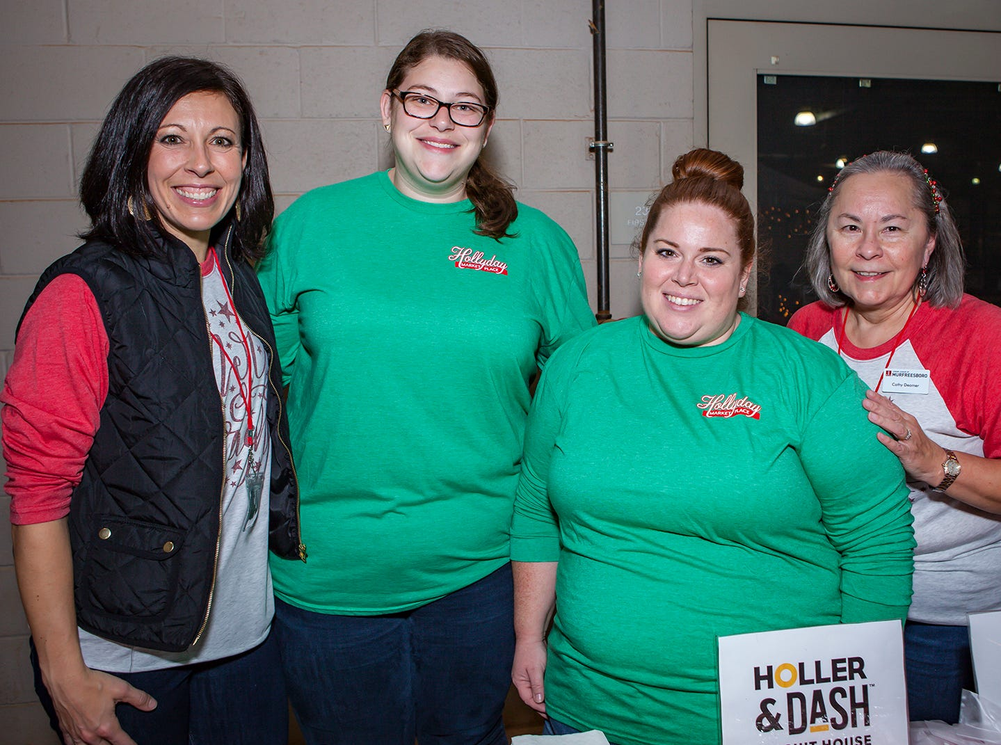 Erin Snellgrove, Kaitlyn Brown, Deah Thornhill and Cathy Deamer at Mistletoe & Martinis on Friday, Nov. 30, the preview party for the Junior League of Murfreesboro's 2018 Hollyday Marketplace.
