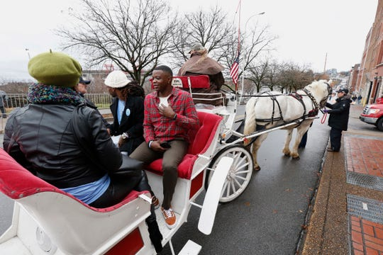 James Shaw Jr. was the grand marshal at the 2018 Nashville Christmas Parade.