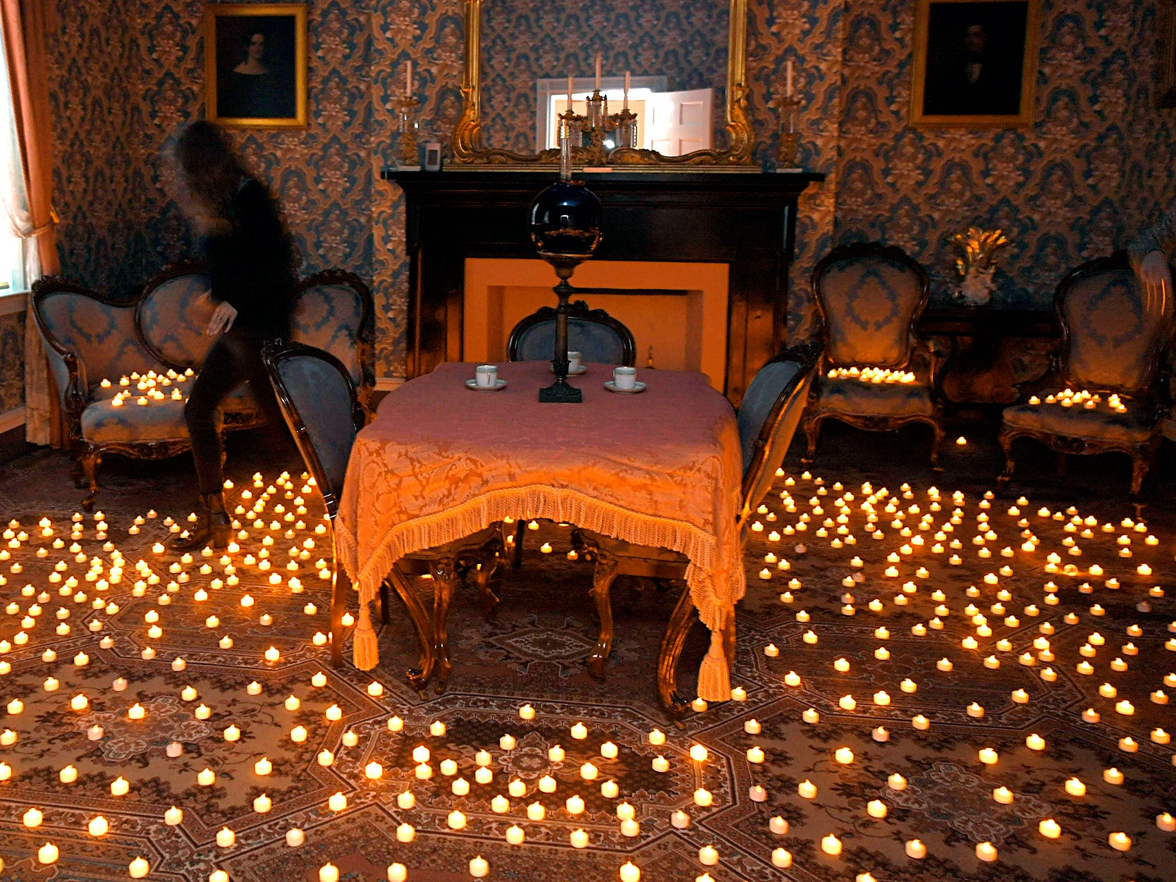 Candles were displayed throughout the Carnton home for the 154th anniversary of the Battle of Franklin on Friday, Nov. 30, 2018.