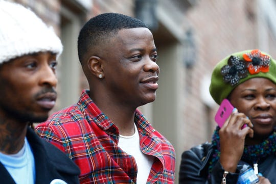 James Shaw Jr. was the Grand Marshal at the 2018 Nashville Christmas Parade  Saturday Dec. 1, 2018, in Nashville, Tenn. Abede Dasilva, left, and Shaundelle Brooks, right, are the brother and mother of Akilah Dasilva, who was killed in the Waffle House  shooting.