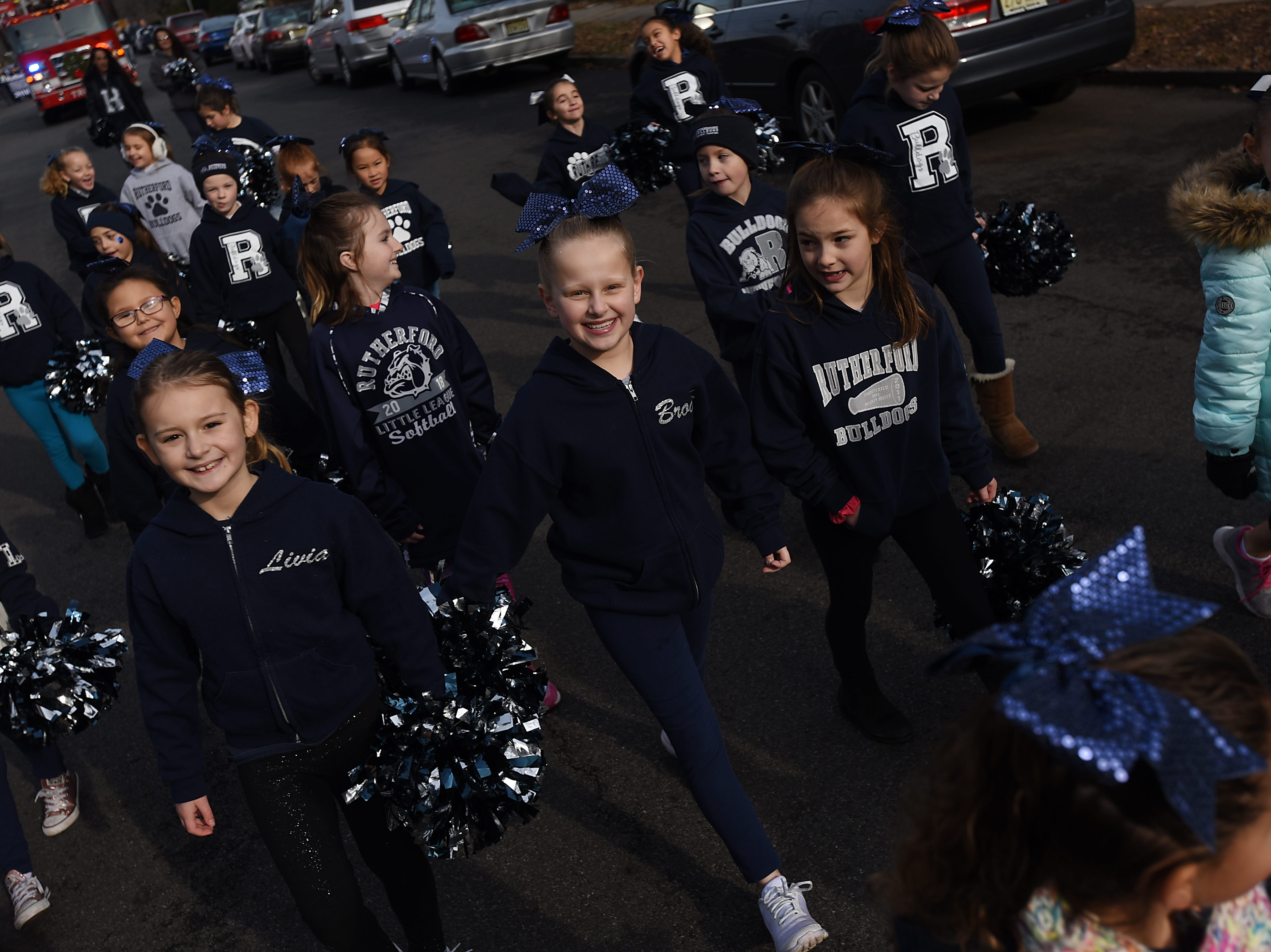 Cheerleaders in the Rutherford Football parade in Rutherford on Saturday December 1, 2018.