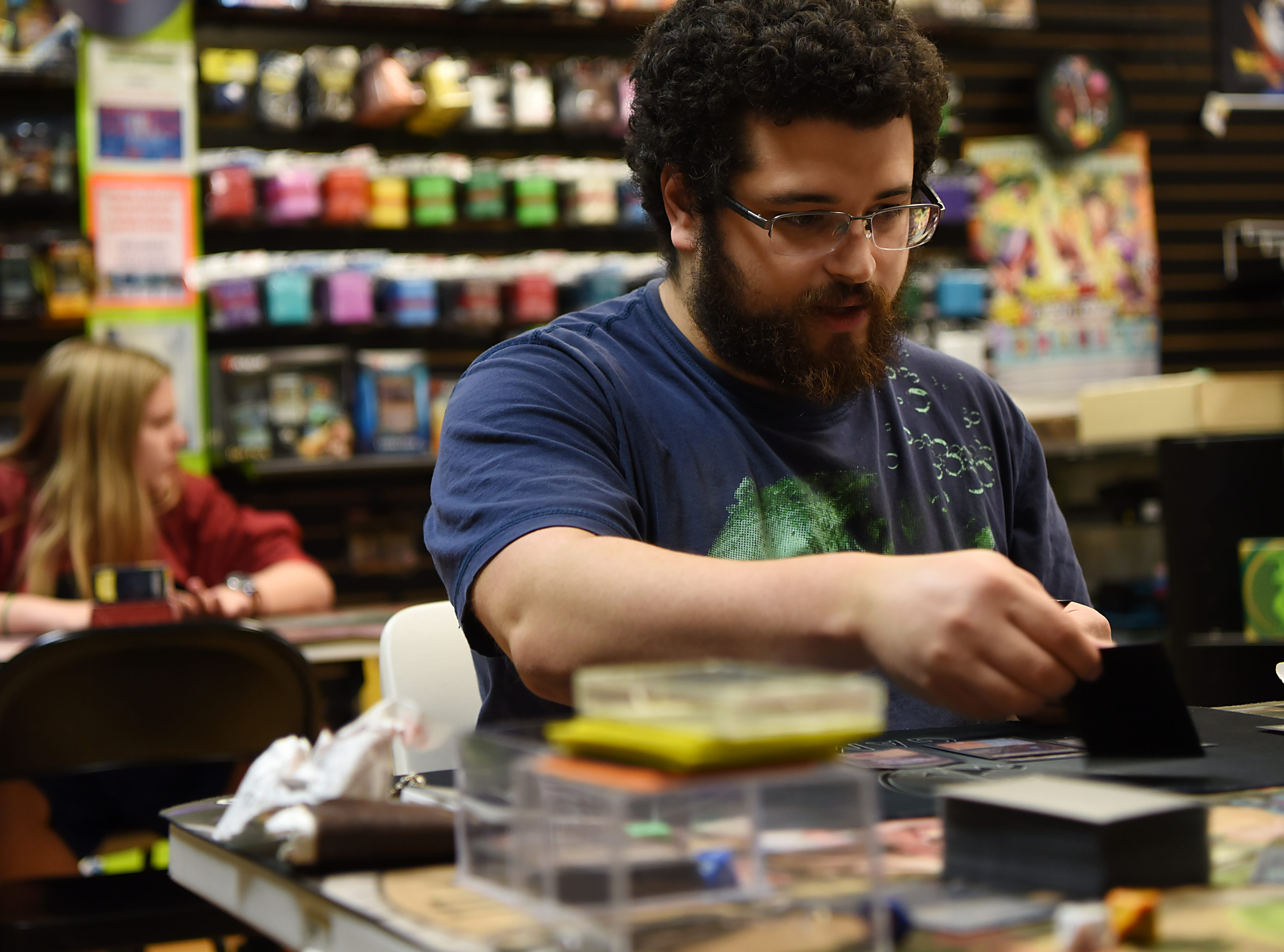 Kyle Capellan plays Magic: The Gathering at Level 1 Games in Pompton Plains on Friday November 30, 2018.