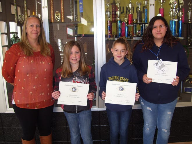 Chaparral Middle School pictured left to right: Chaparral Assistant Principal April Shay, and students Azlyn Childress, Kylie Rideout and Lillianna Salazar.