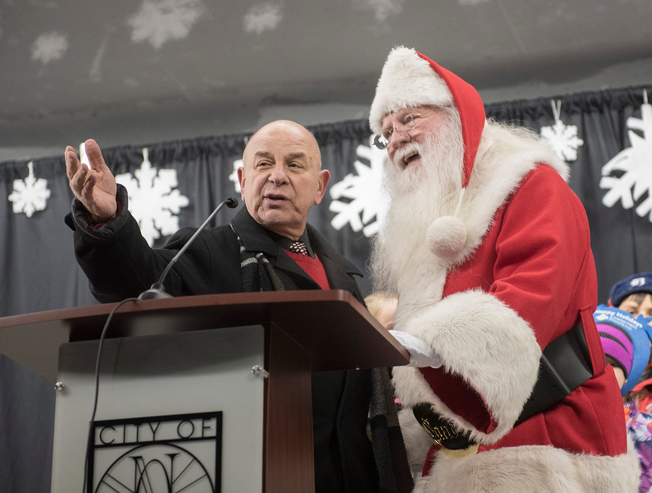 "Mayor Bob Gatt tries to convince Santa that his name should be moved from the ""naughty"" to the ""nice "" list. Santa is skeptical."