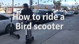 How to ride a Bird scooter with DESERT magazine editor Kristin Scharkey and Desert Sun writer Bruce Fessier