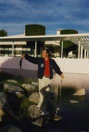 President George H.W Bush fishes at Sunnylands in February 1995.