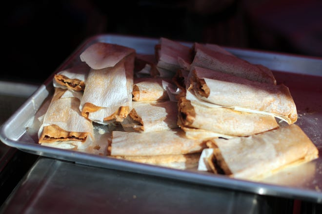 A tray of tamales on Saturday, December 1, 2018 during annual Indio Tamales Festival.