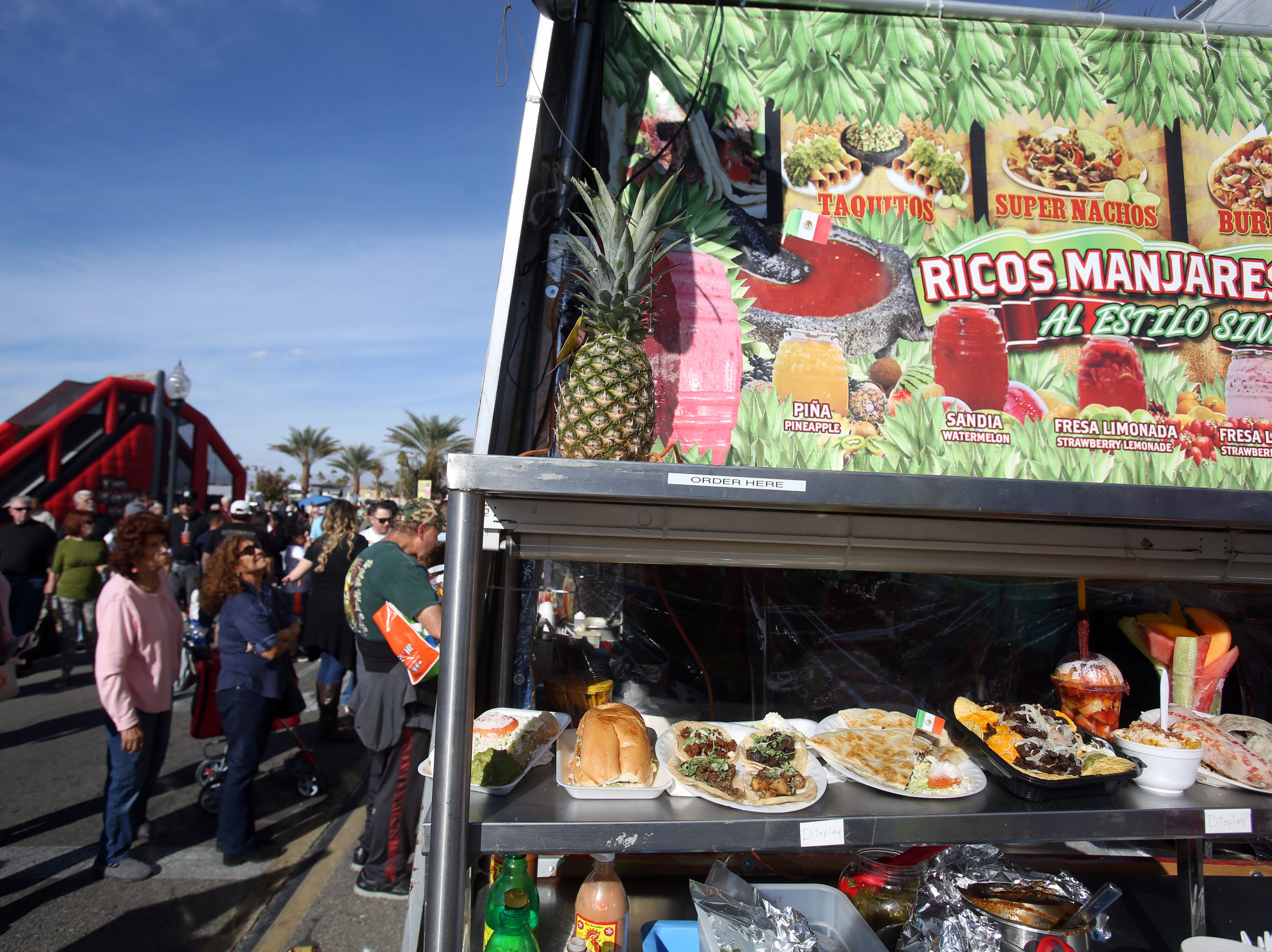 A display of non tamale foods on Saturday, December 1, 2018 during annual Indio Tamales Festival.