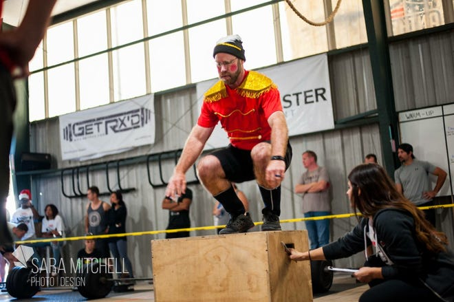Athletes compete for an event at a previous Gaindeer Games competition at Anthem CrossFit. Entering its fourth year, the games have grown to feature 90 teams and 180 competitiors.