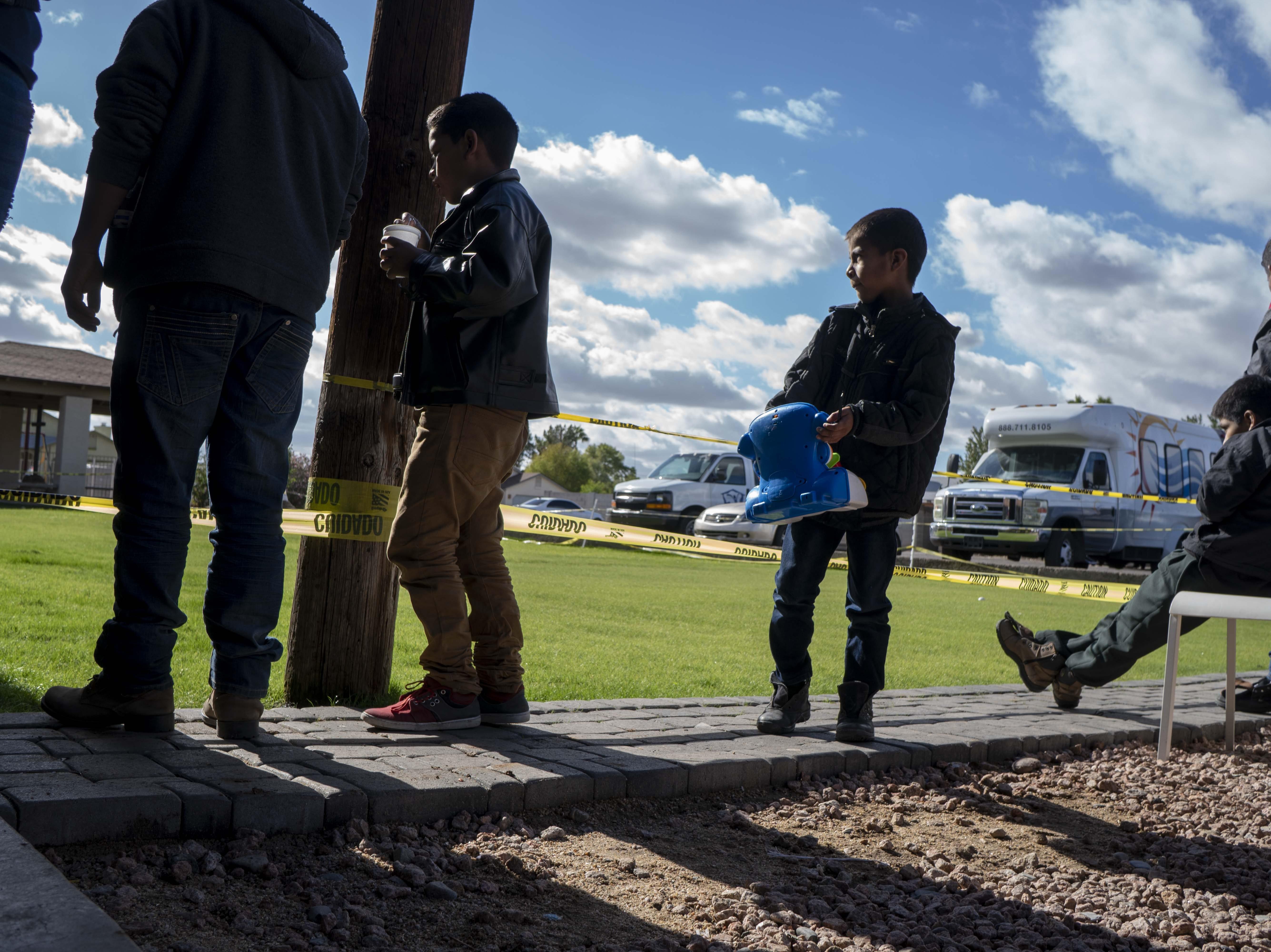 Migrant families arrive at Casa de Oracion Number 2 in north Phoenix.