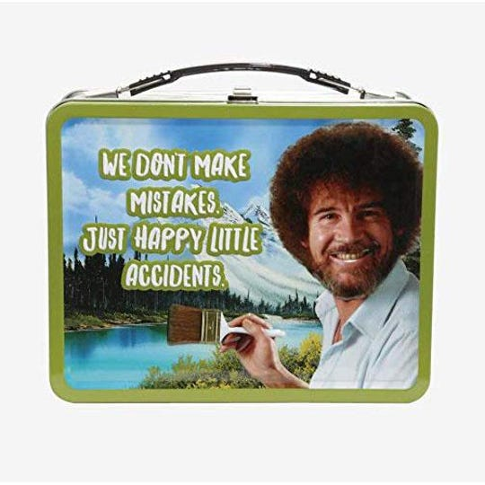 Bob Ross lunch box, $17.99 at the Phoenix Art Museum's gift store.