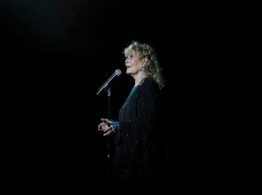 Two-time Grammy winner Petula Clark performs at the Celebrity Theatre in Phoenix on Friday, Nov. 30, 2018.