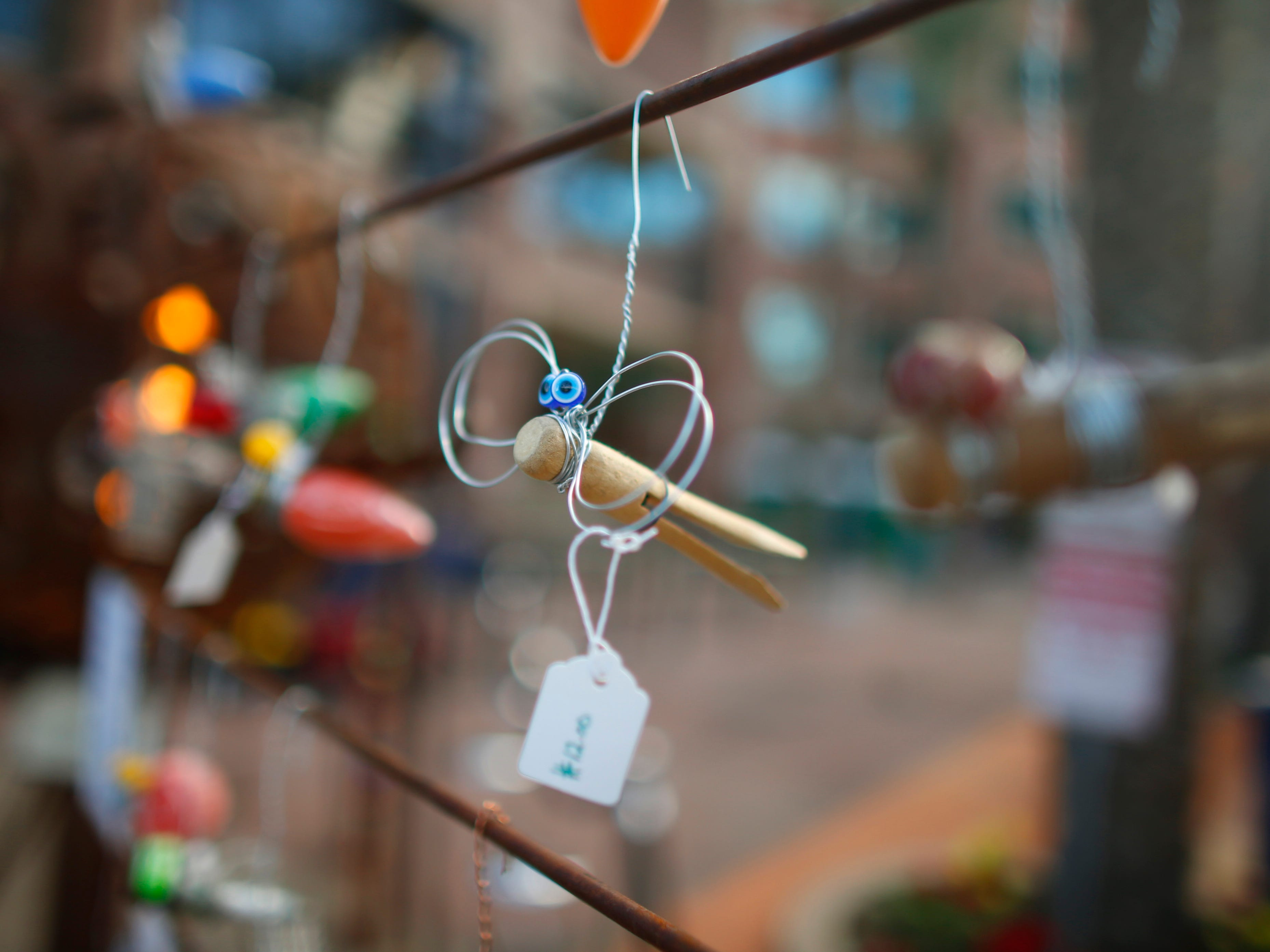Tiny sculptures for sale at the Tempe Festival of the Arts on Mill Avenue on Friday, November 30, 2018.