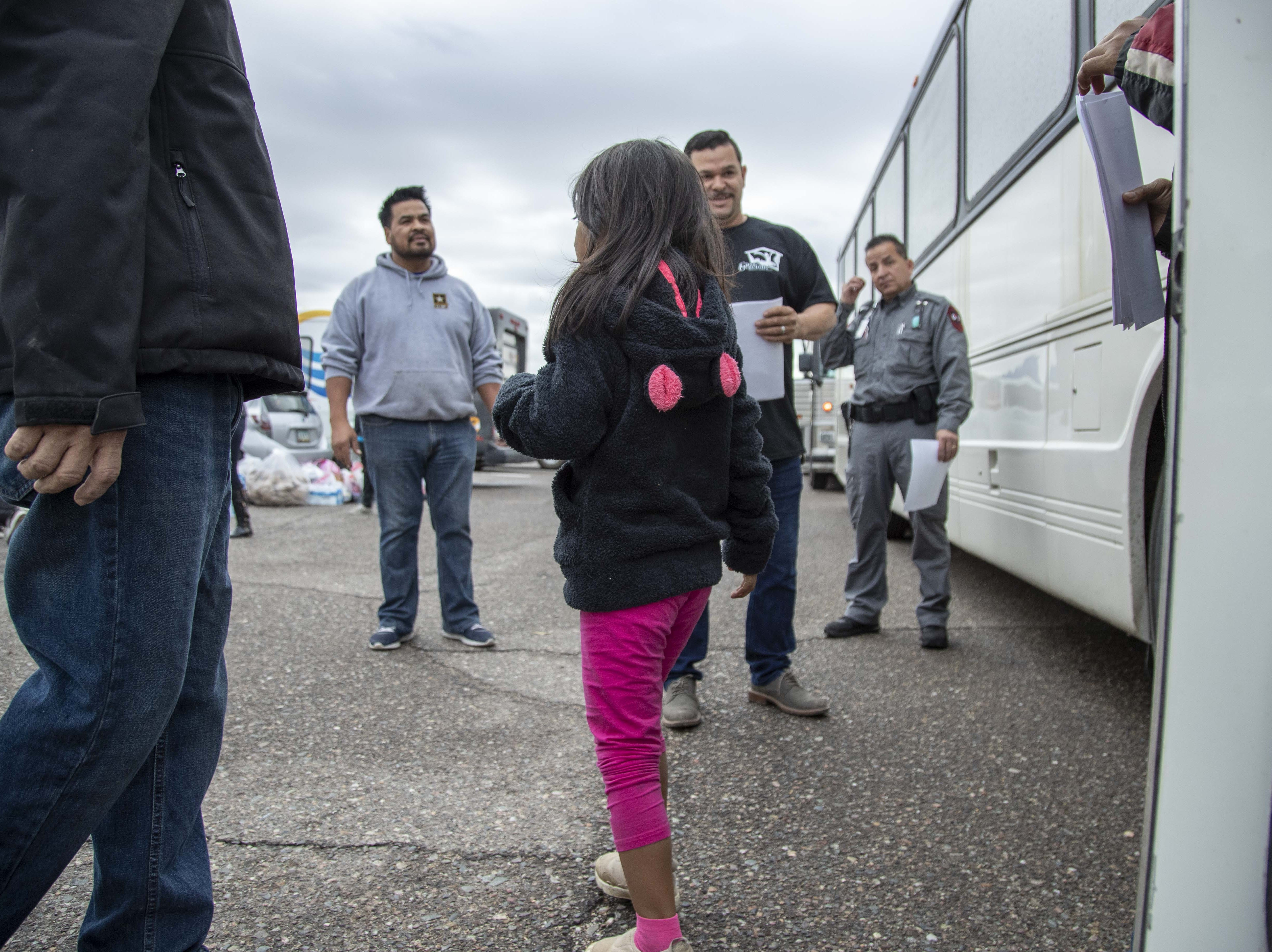 Federal immigration authorities have been releasing large groups of migrant families from Central America at local churches because they don't have the capacity to hold them. But two months after ICE began releasing the families, and with no end in sight, the churches are becoming overwhelmed. On Nov. 30, 2018, ICE released 60 families, totaling about 130 men, women and children, at Casa de Oracion Number 2, a Hispanic church in north Phoenix. The pastor greeted the families as they got off Department of Homeland Security buses, taking their first steps in the United States.