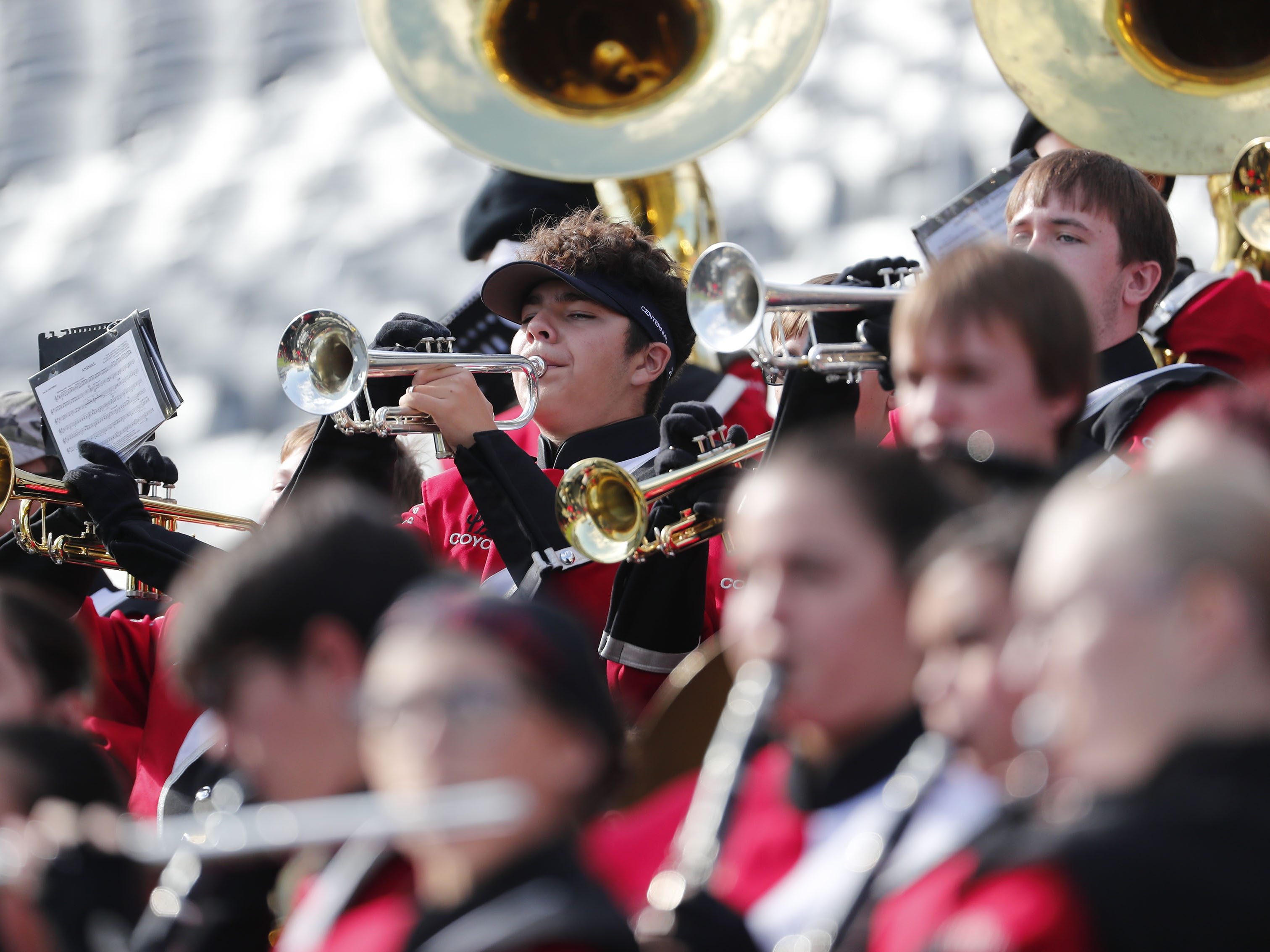 Centennial High band performs during the 5A state football championship against Notre Dame Prep at Sun Devil Stadium December 1, 2018. #azhsfb