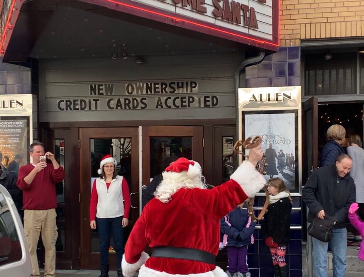 Santa Claus made his annual appearance at the Allen Theatre in Annville on Saturday morning, Dec. 1, 2018.
