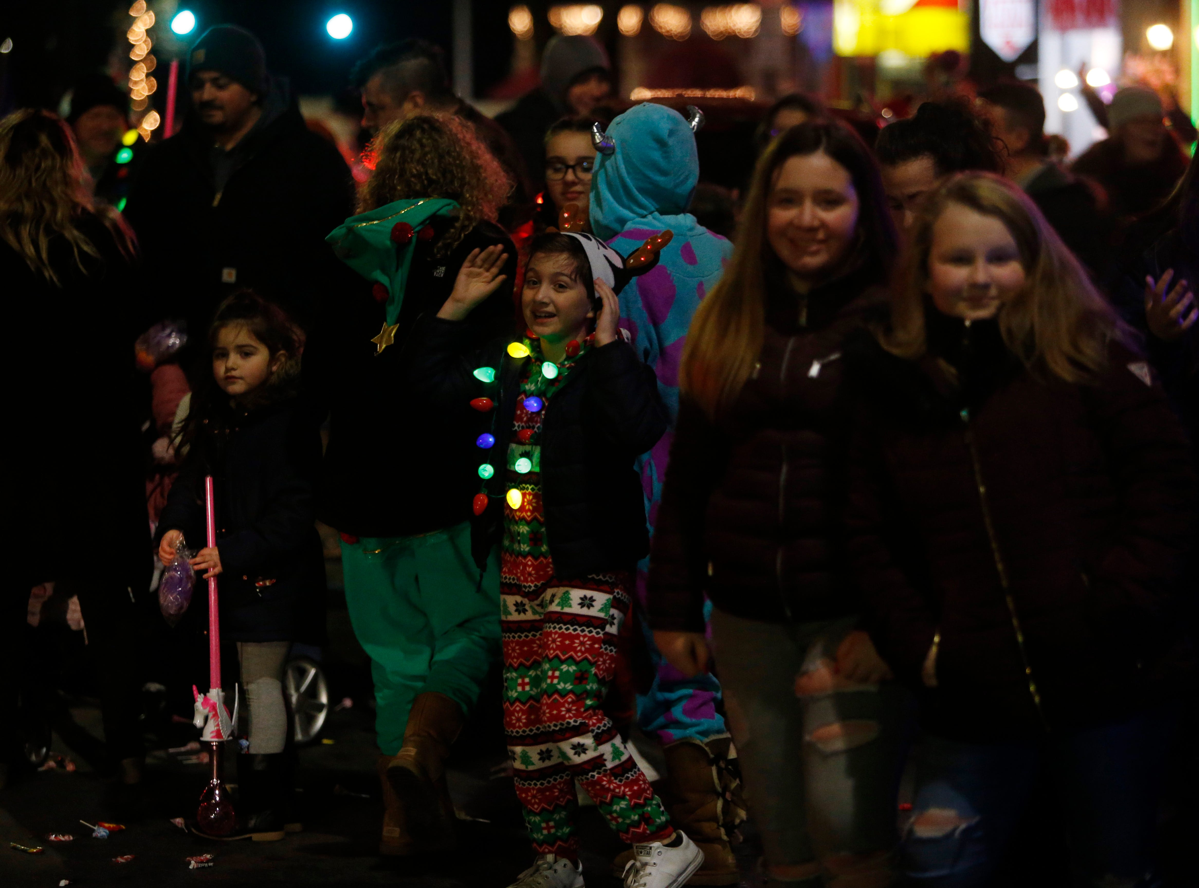 Scenes from the Celebration of Lights Parade in the City of Poughkeepsie on November 30, 2018.