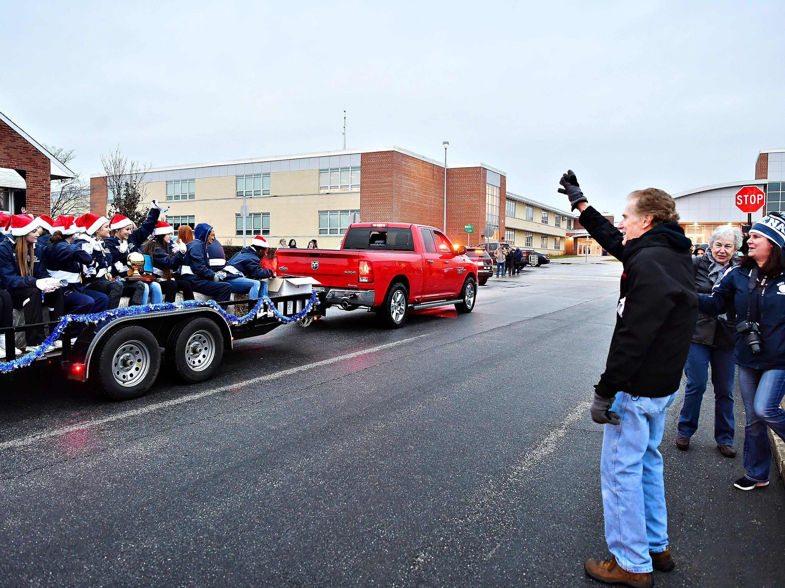 The 2018 PIAA 3-A State Champion Lady Bulldogs Volleyball team are honored with a parade at West York Area High School in West Manchester Township, Friday, Nov. 30, 2018. Dawn J. Sagert photo