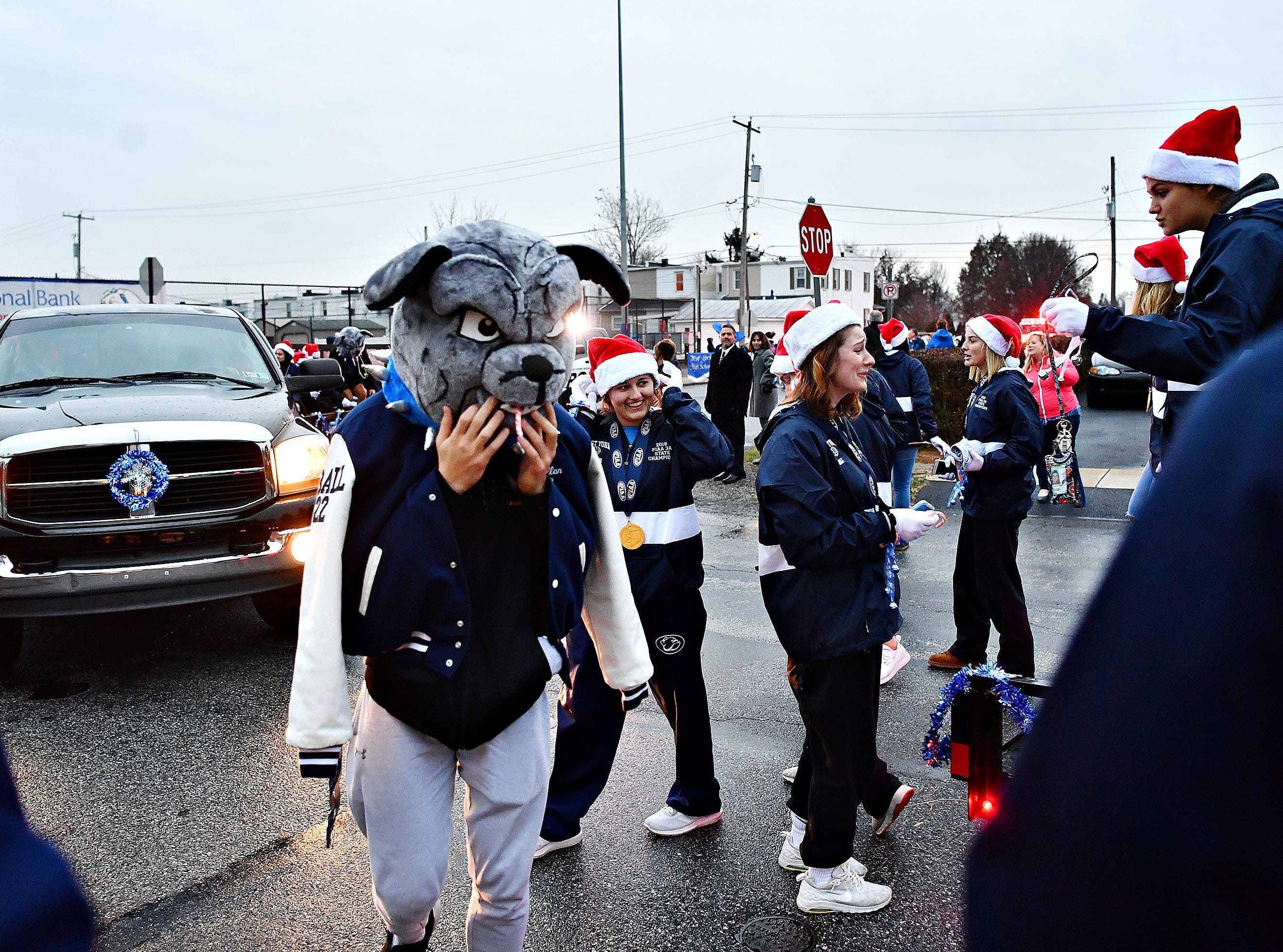 The 2018 PIAA 3-A State Champion Lady Bulldogs Volleyball team are honored following a parade at West York Area High School in West Manchester Township, Friday, Nov. 30, 2018. Dawn J. Sagert photo