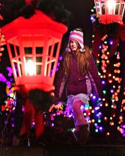 Lauryn Hall, 8, of Stewartstown, during Christmas Magic at Rocky Ridge County Park in Springettsbury Township, Friday, Nov. 30, 2018. Dawn J. Sagert photo