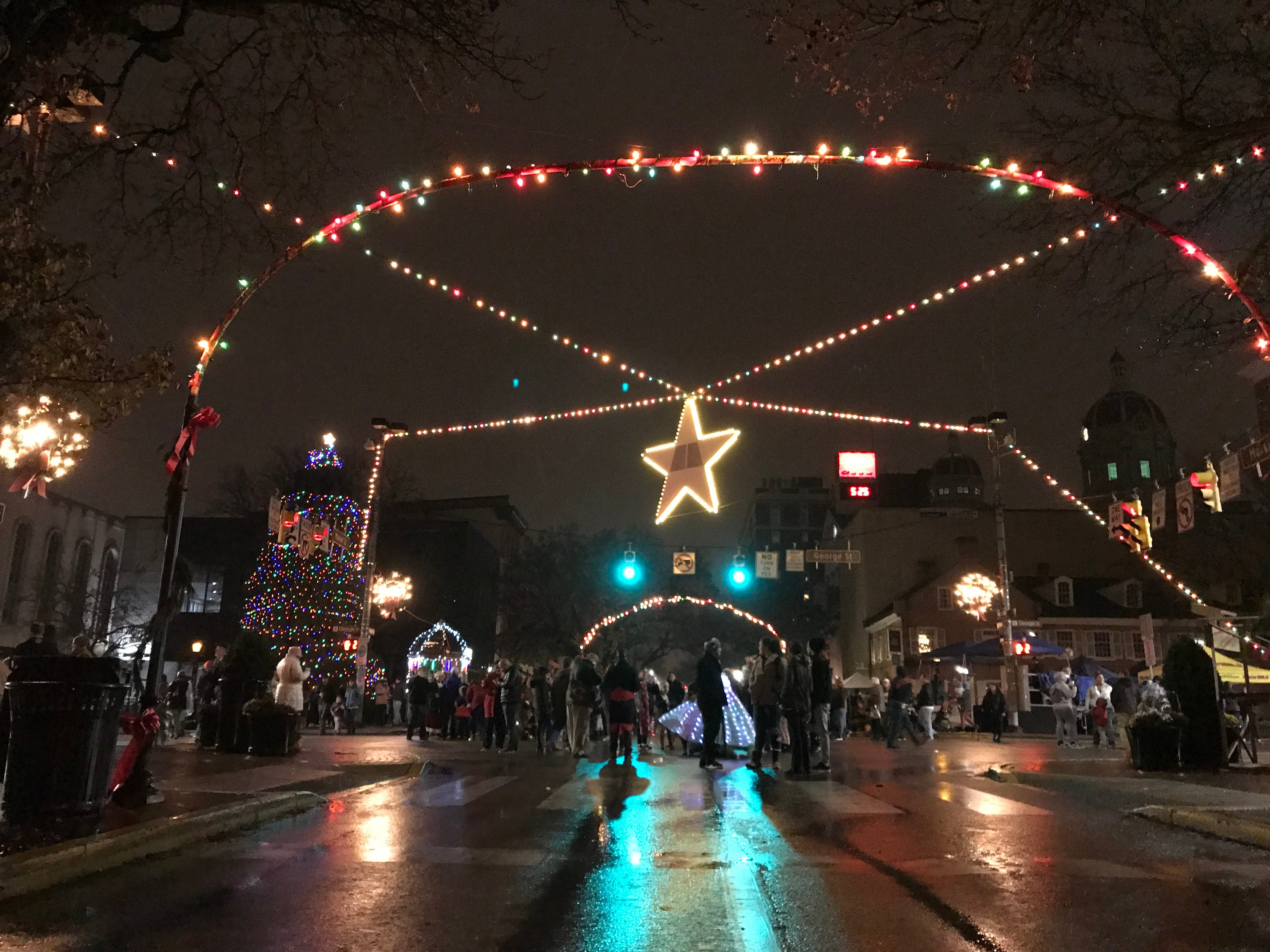 Downtown York during Light Up York on Saturday, Dec. 1, 2018.