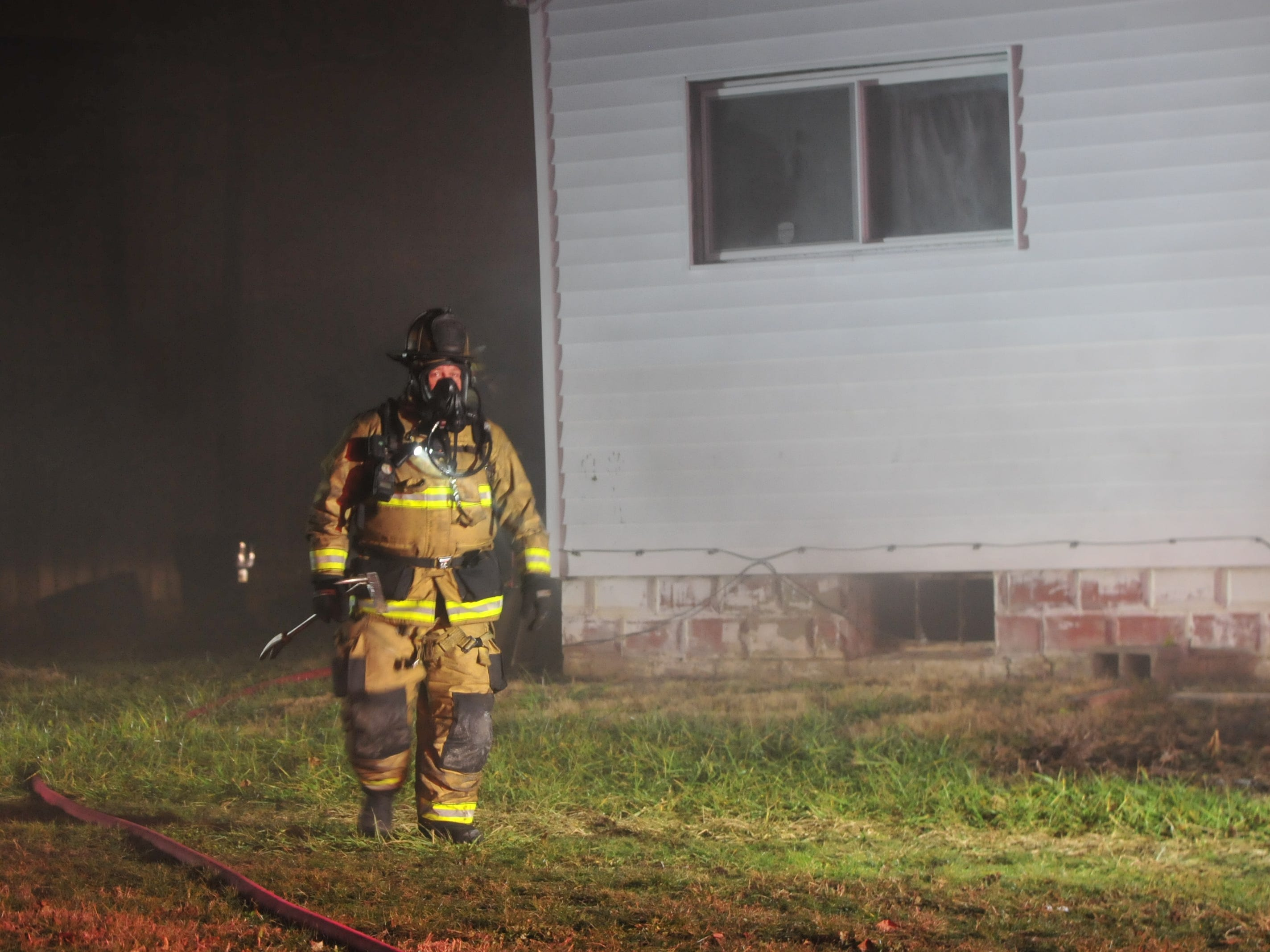 Richmond Fire Department responded Friday night to a trash fire in the basement of a vacant home on South 11th Street.