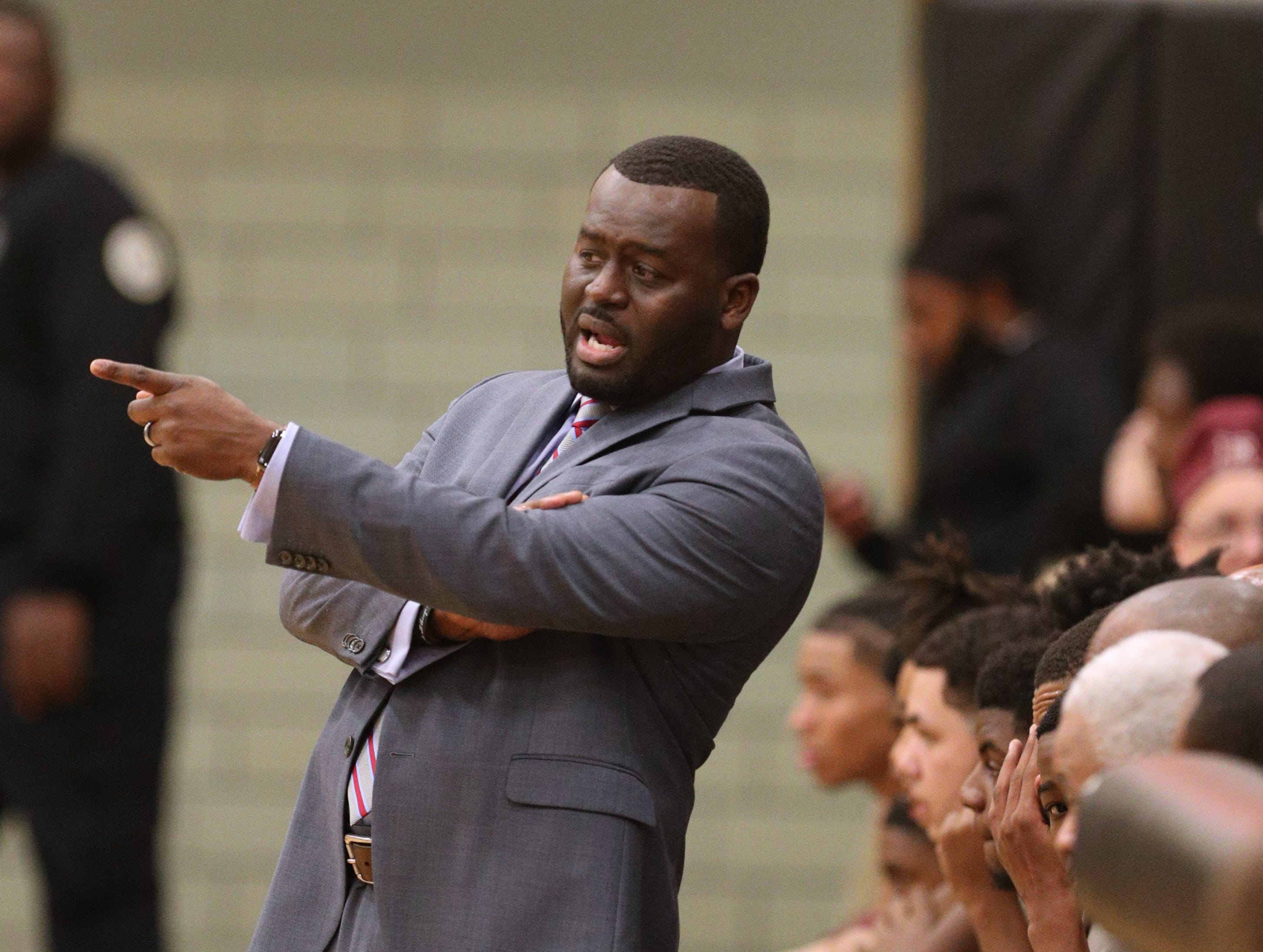 Edison head coach Jacob Scott in a game against McQuaid.