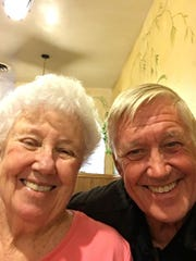 Joan Tracy and her brother, Ted Ratliff. Tracy died in the Camp Fire.