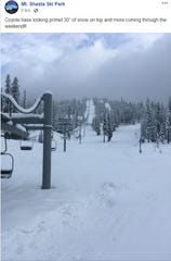 The view at Mt. Shasta Ski Park on  Friday, Nov. 30, 2018.