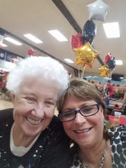 Joan Tracy, left, and friend Carol Souza. Tracy died in the Camp Fire.