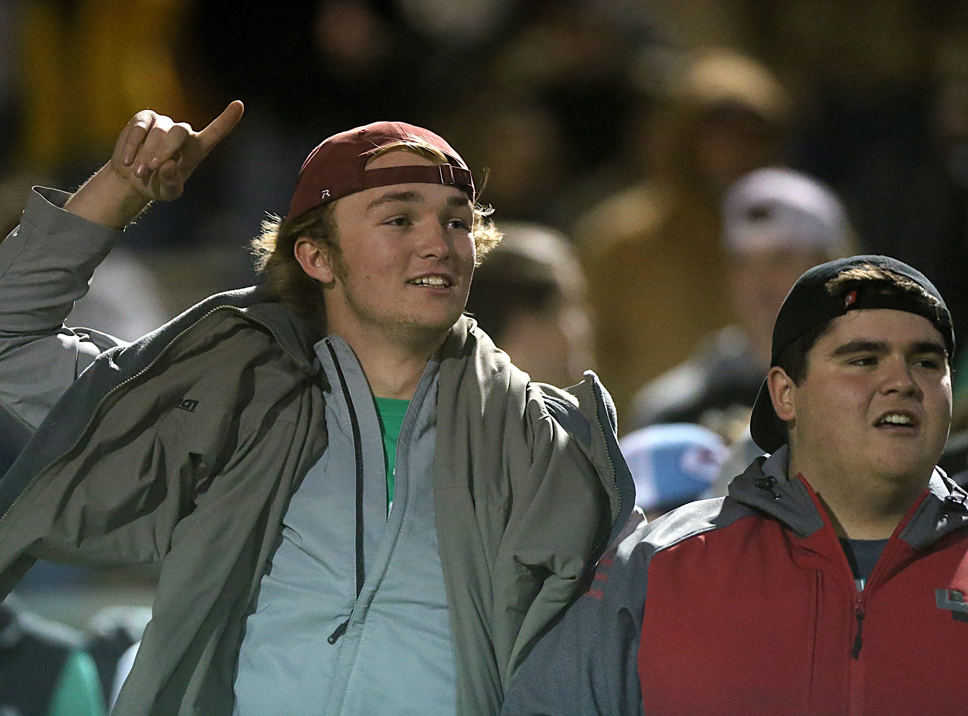 Wall fans cheer on their team Friday, Nov. 30, 2018, during their game against the Brock Eagles at Shotwell Stadium in Abilene. Wall lost 13 to 35.