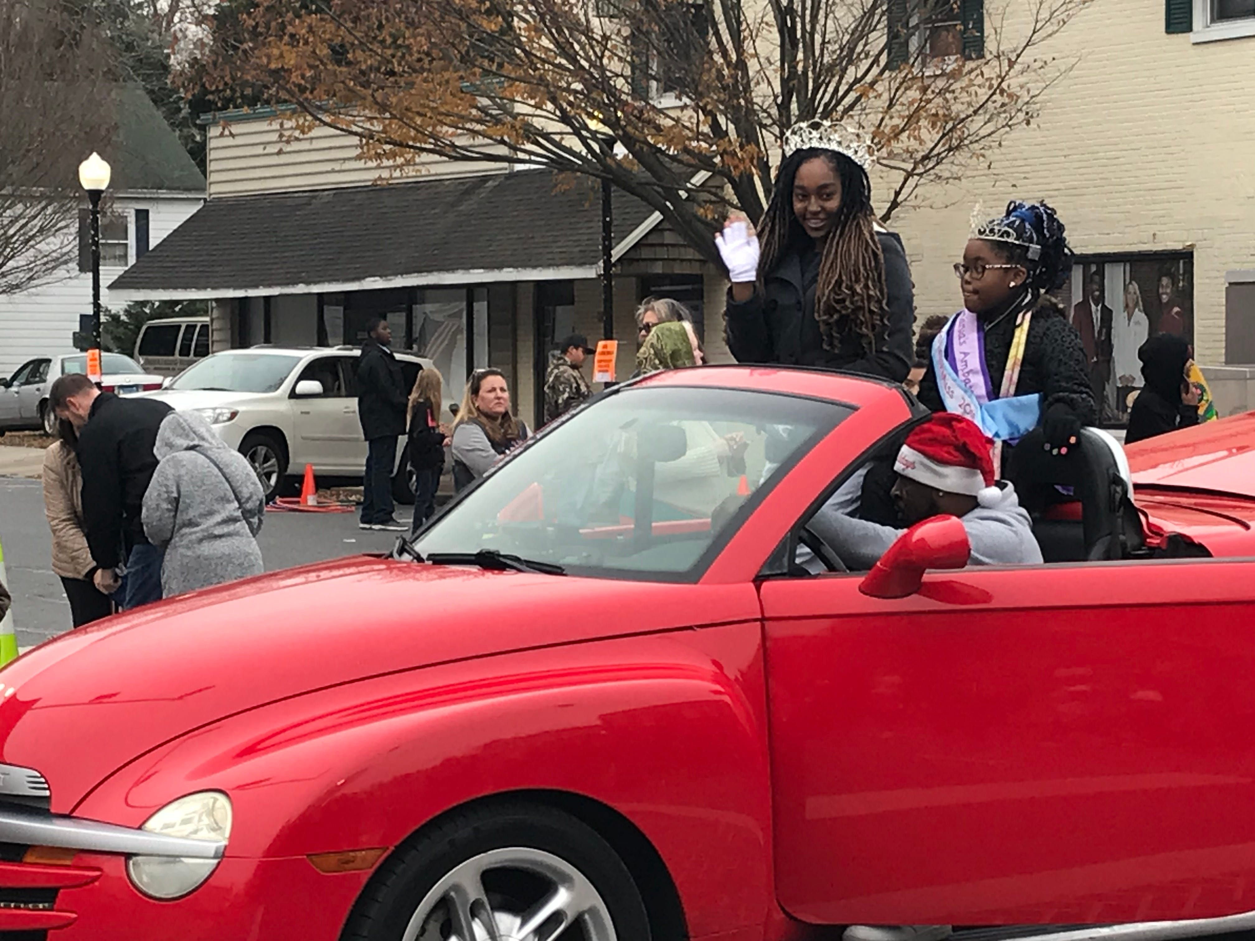 Winners of pageants got to ride in cars and on trucks in the parade.