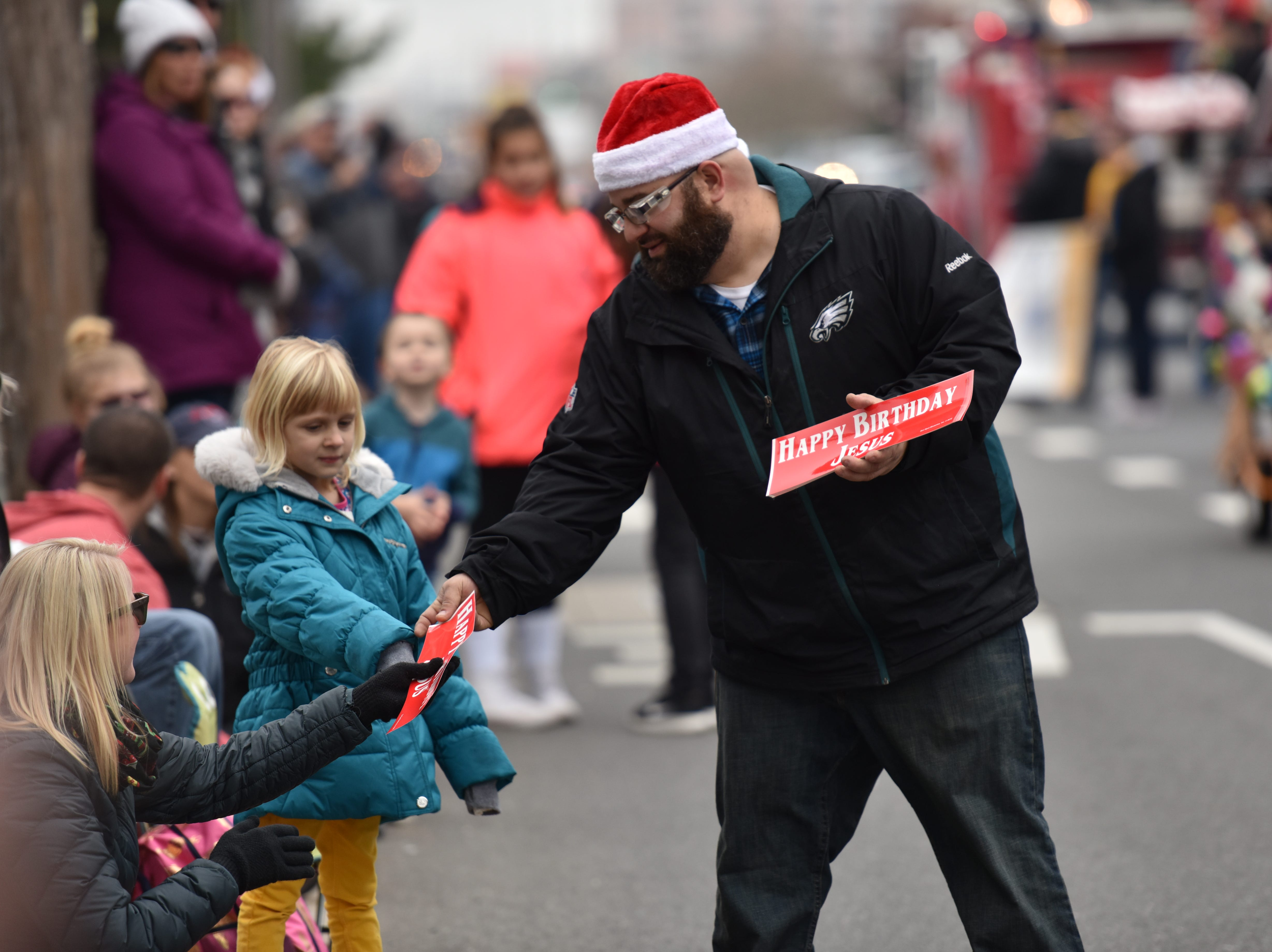 Performers, organizations and businesses walked in the Ocean City Christmas parade on Saturday, Dec. 1, 2018.