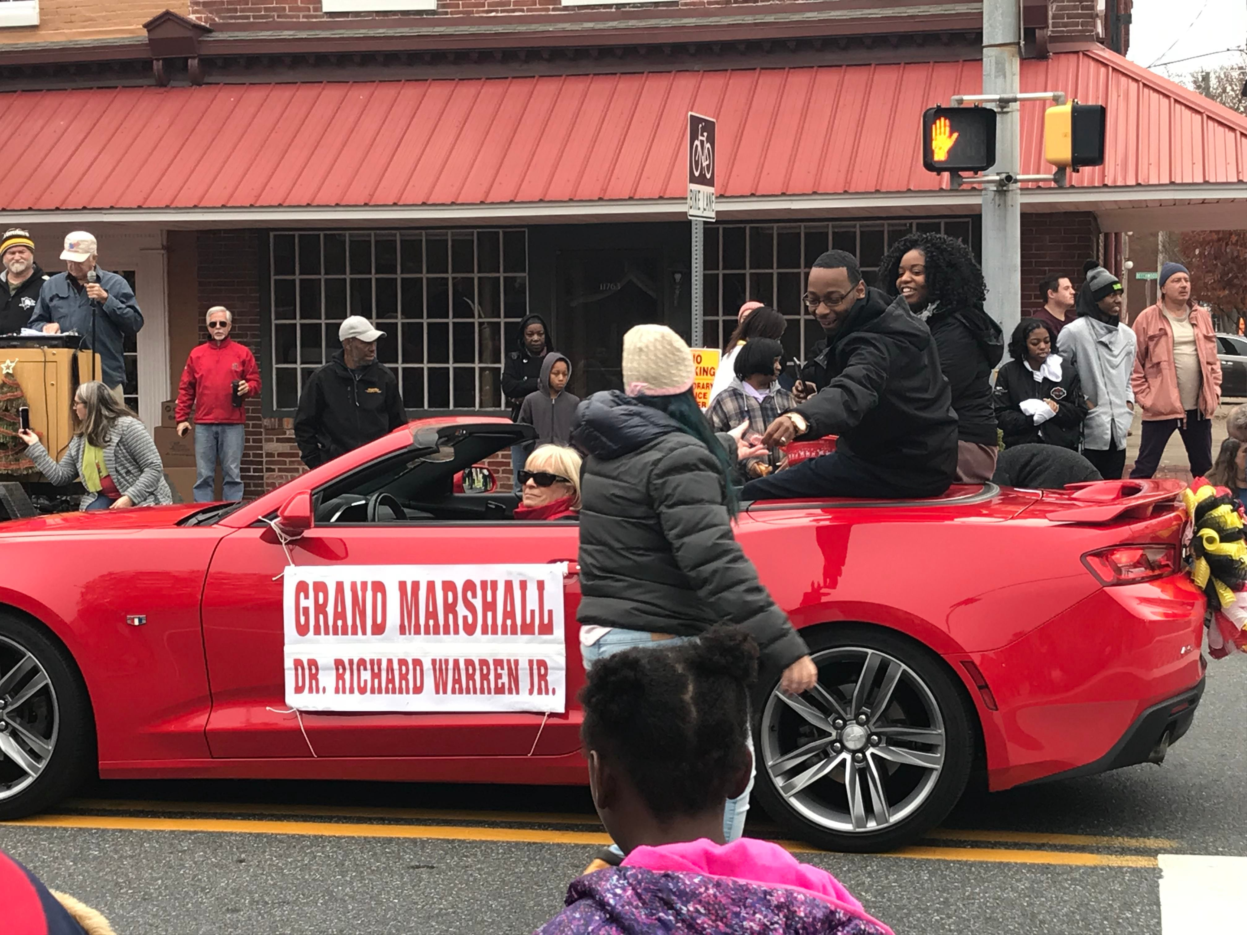 Dr. Richard Warren, Jr., an eighth grade Science, Technology, Engineering and Math (STEM) teacher at Somerset County's Crisfield High School and Academy and three time alumnus of University of Maryland Eastern Shore, was the grand marshal of the parade.