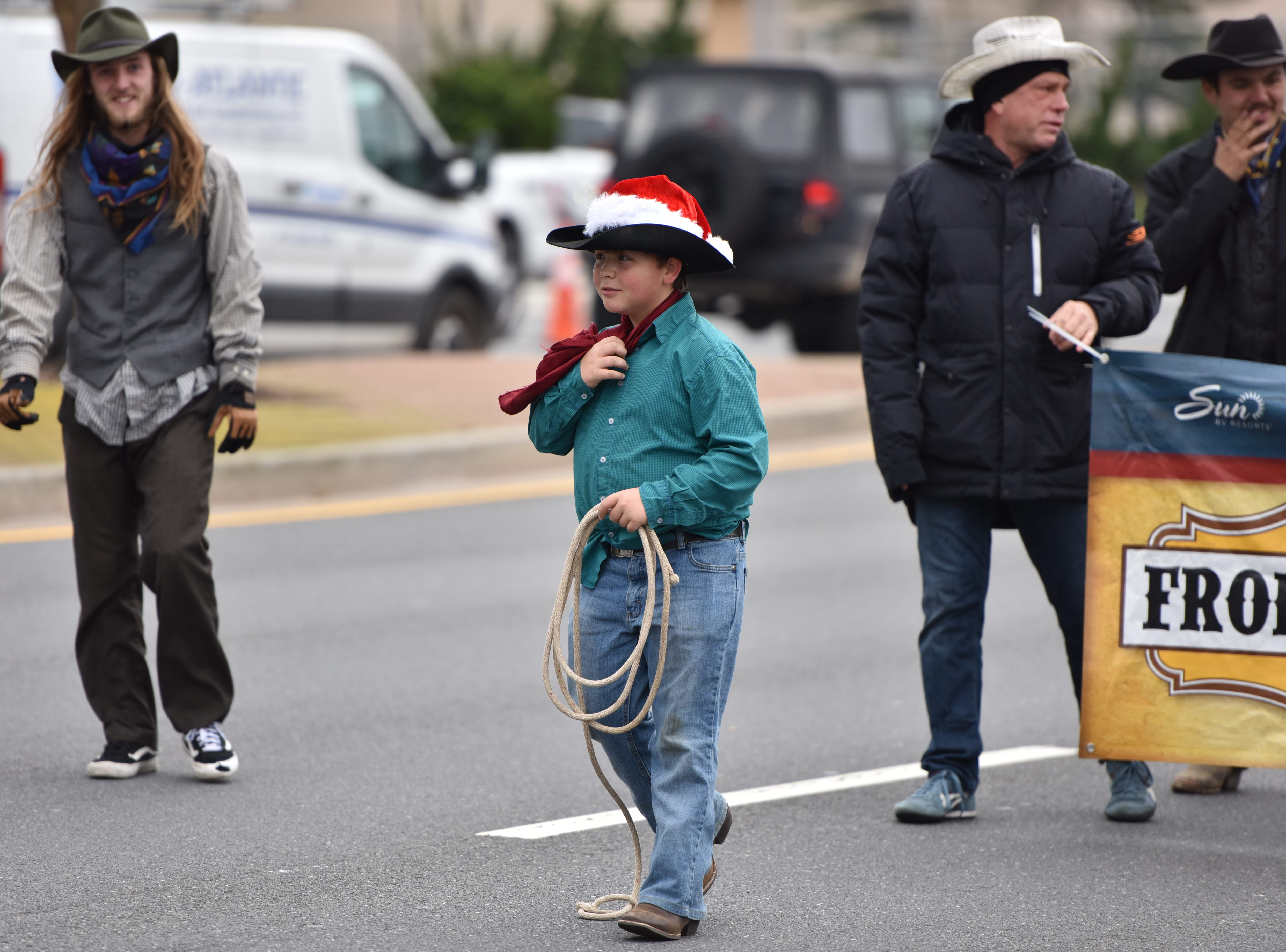 Performers from Frontier Town at the Ocean City Chrsitmas parade on Saturday, Dec. 1, 2018.
