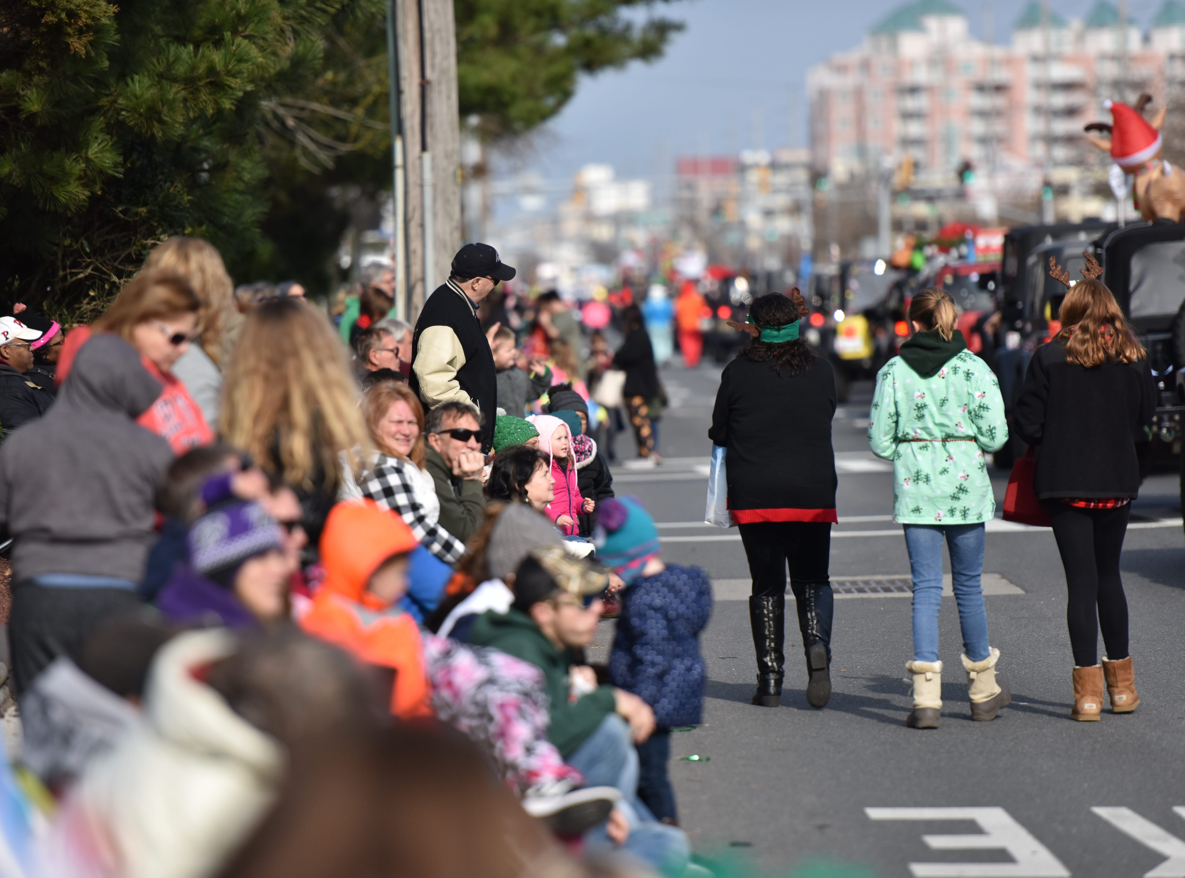 Many lined the streets for the 2018 Ocean City Christmas parade.