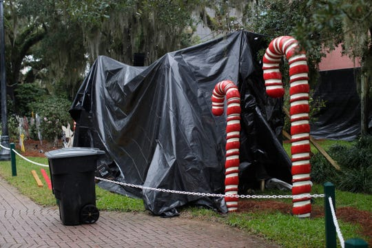 Candy Cane Lane is a ghost town after the announcement that Tallahassee's Winter Festival will not go on due to inclement weather Saturday, Dec. 1, 2018.