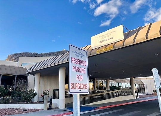 "This is the front entrance of El Paso Specialty Hospital, located at 1755 Curie Drive in the ""Pill Hill"" area of Central El Paso."