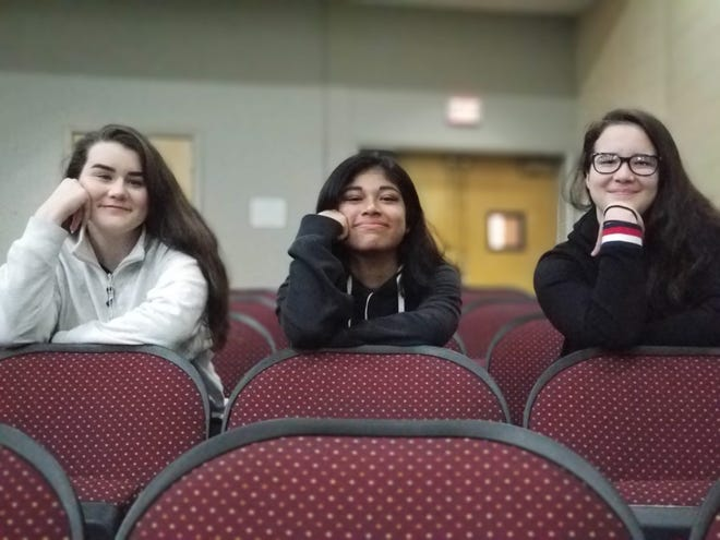 This trio of Bridgeton High School students, Brianna Webster, Allison Ponce and Zoe Panichello, will perform on Broadway as part of the Hamilton Education Program.