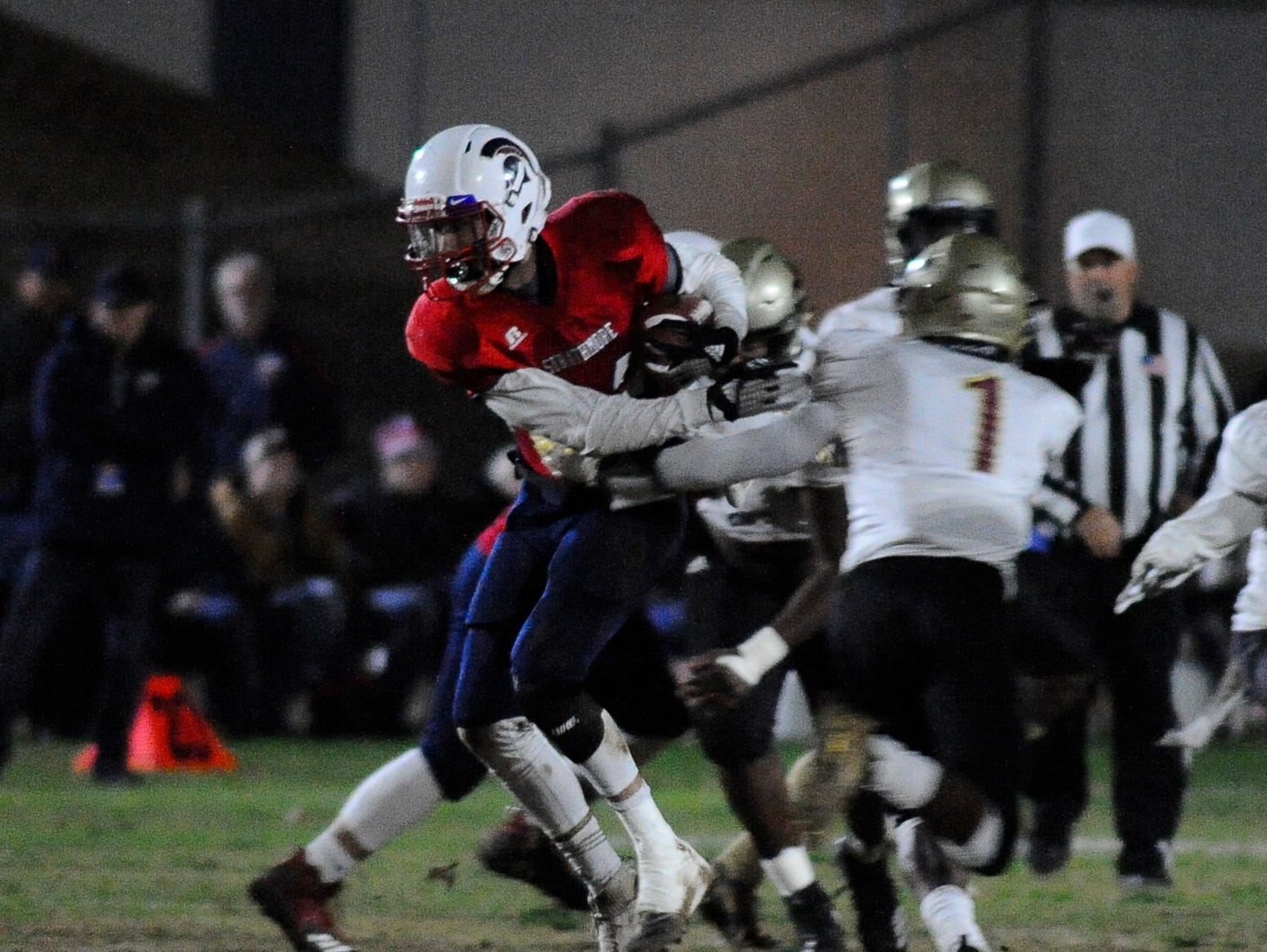 Strathmore High School hosts Adelanto during a CIF SoCal Regional Championship Bowl Game on Friday, November 30, 2018.